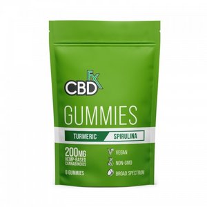 CBDfx Vegan Gummies Canada with Turmeric & Spirulina 200mg (8 count) Pack - Chilliwack Essentials Co