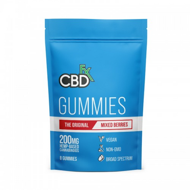 CBDfx 'Mixed Berry' Gummies Canada 200mg (8 count) Pack - Chilliwack Essentials Co