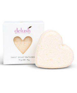 Delush 'Sweet Heart' CBD Bath Bombs 75mg - CBD Canada