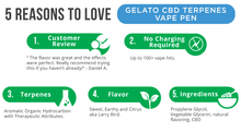 Load image into Gallery viewer, CBDfx Gelato Terpenes Vape Pen - 50mg - Chilliwack CBD Canada