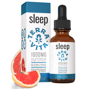 Terra Vita Full Spectrum CBD Tincture 'Sleep' Grapefruit 500mg + 1000mg + 2000mg - CBD Canada