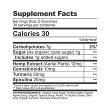 Load image into Gallery viewer, CBDfx Turmeric & Spirulina gummies 300mg (60 count bottle) - CBD Canada