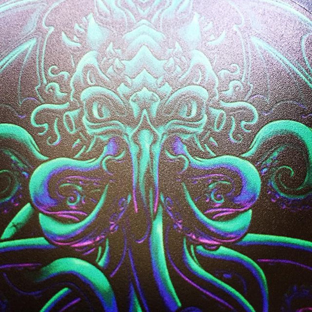 cthulhu closeup on a custom MTB mudguard