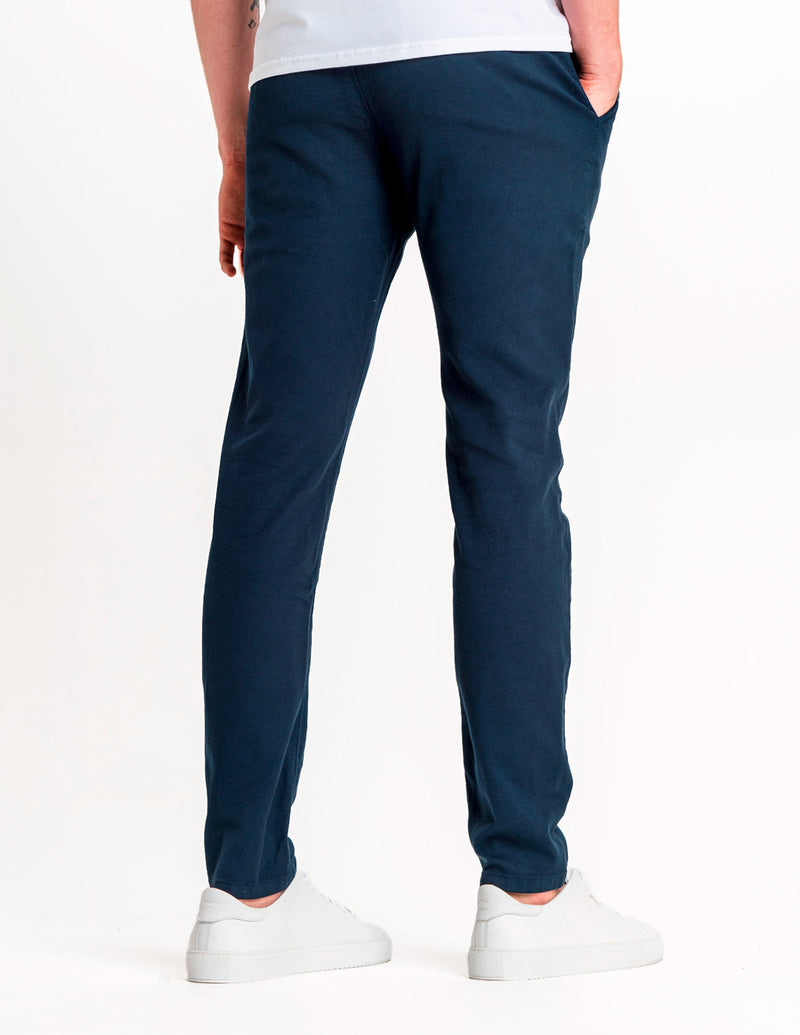 Classic Pants Slim Steel Blue