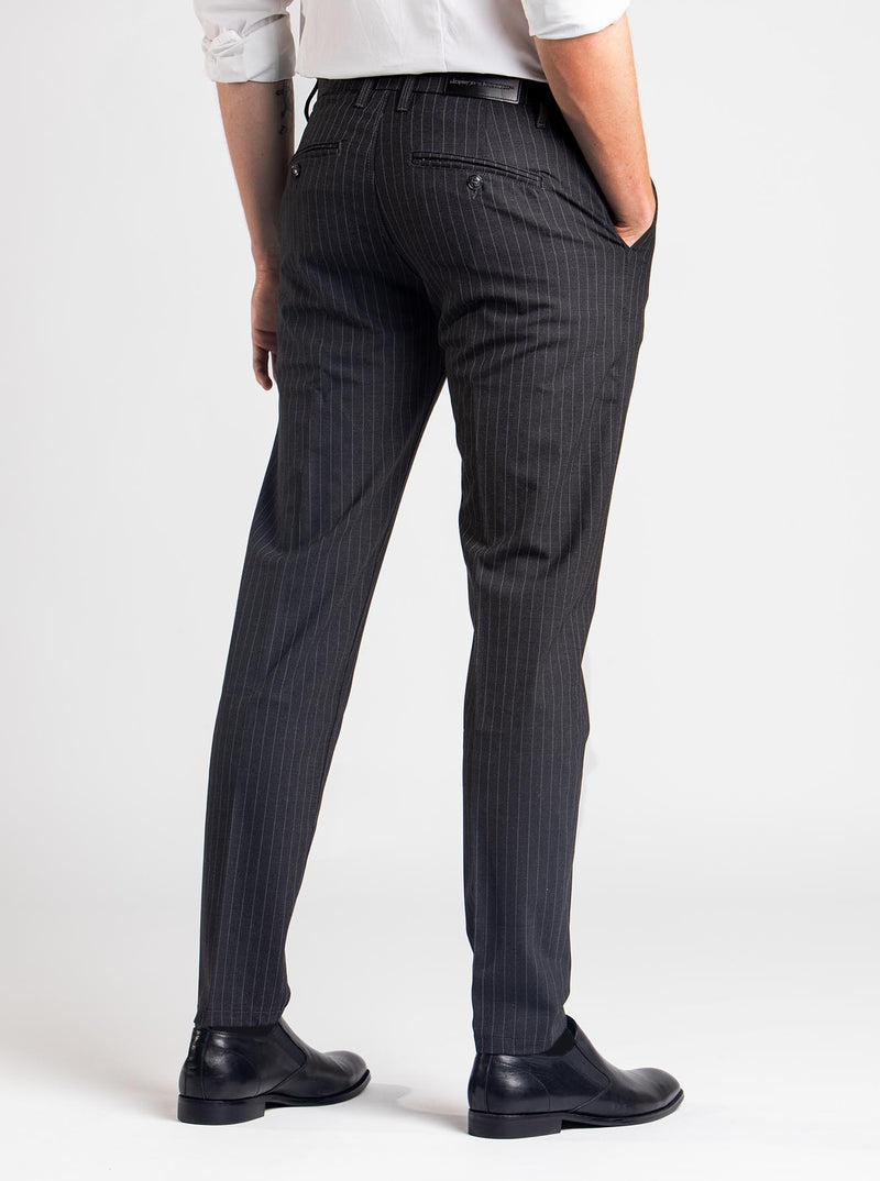 SNT Pico Pants Dark Grey Pinstriped