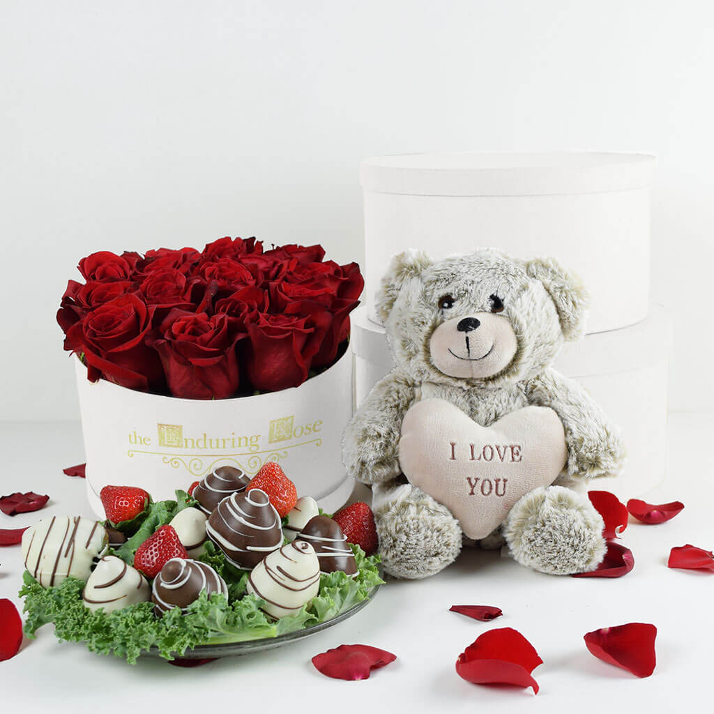 I Love You Roses Chocolate Dipped Strawberries Rose Gifts