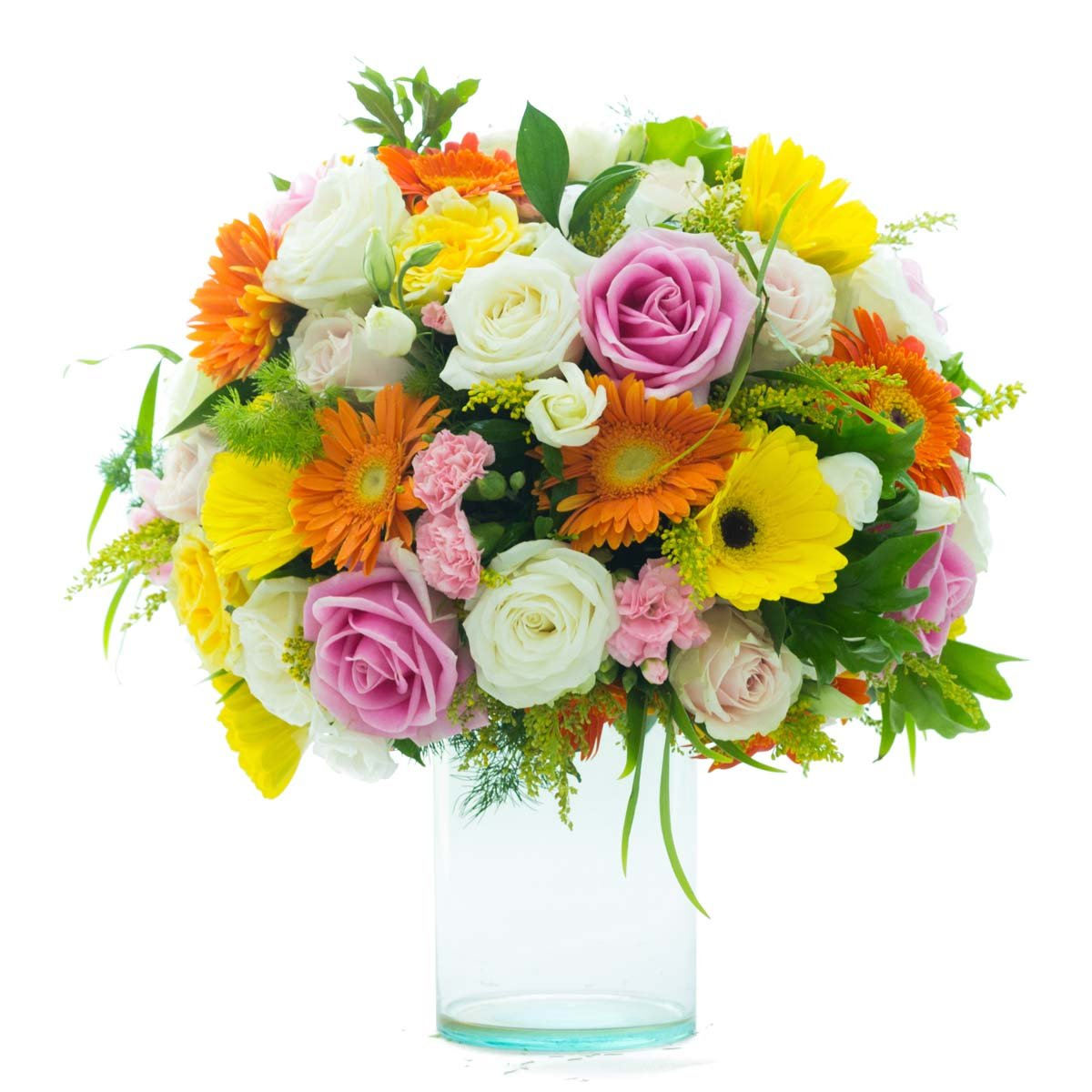 Flower Gifts | Caribbean Sunrise Mixed Floral Bouquet - Enduring Roses