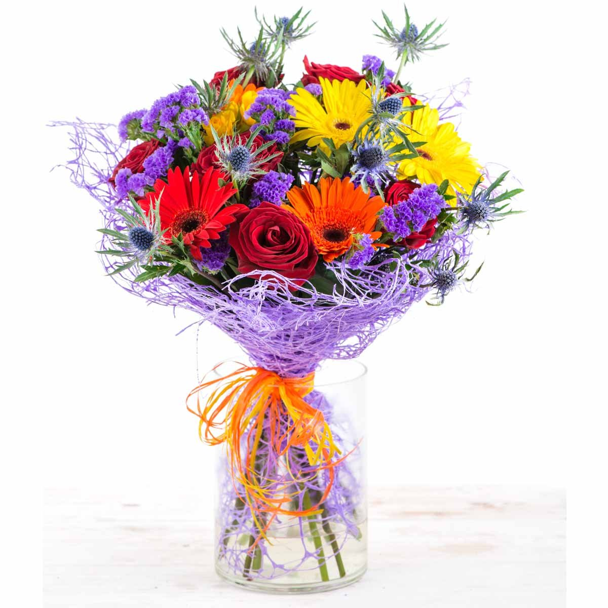 Flower Gifts Exotic Eden Mixed Floral Bouquet Enduring Roses