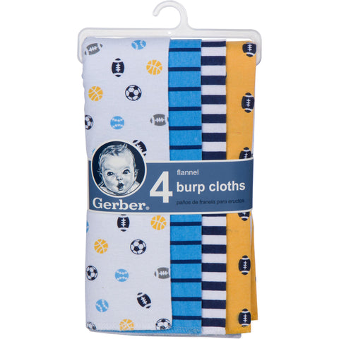 Gerber Flannel Burp Cloths (4pk)