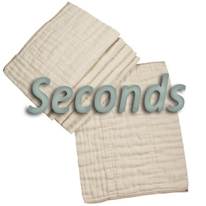 OsoCozy Unbleached Prefolds Factory Seconds (dozen)