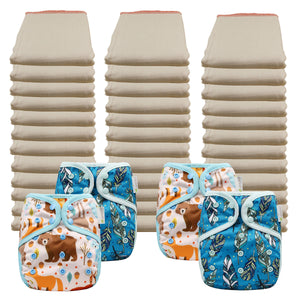 Better Fit Economy Prefold Diaper Packages with OsoCozy One Sized Covers