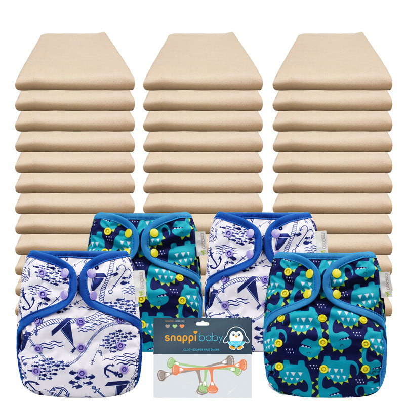 OsoCozy Organic Econ Flat Diaper Packages