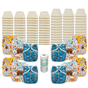 OsoCozy Grande Better Fit Diaper Package with OsoCozy One Size Diaper Covers