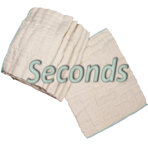 OsoCozy Bamboo/Cotton Prefolds Factory Seconds Dozen