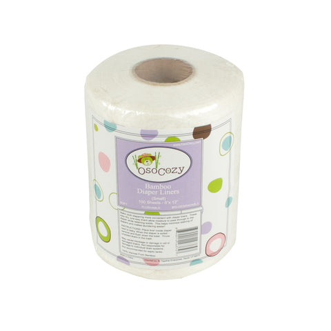 OsoCozy Bamboo Flushable Diaper Liners - Small (5x12 inches)
