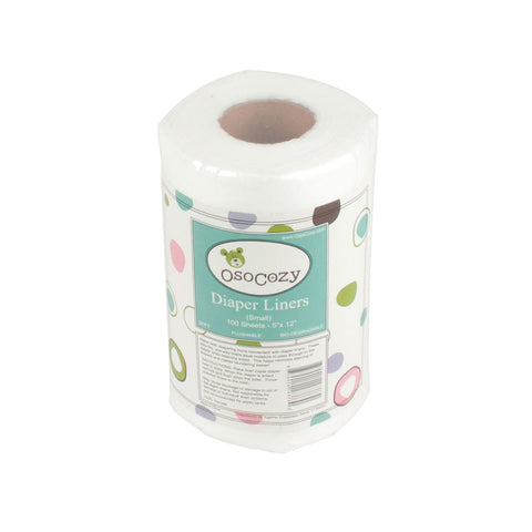 OsoCozy Flushable Diaper Liners - Small (5x12 inches)