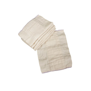 Osocozy Indian Cotton Prefold Cloth Diapers Unbleached (dozen)