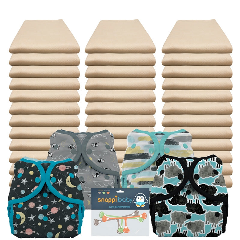 Flat cloth diaper packages