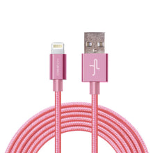 Pink Braided Nylon Lightning Cable