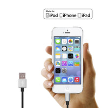 Silver Braided Nylon Lightning Cable