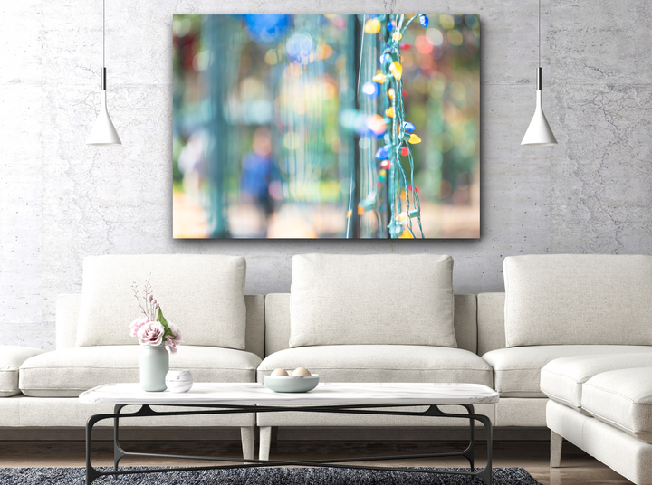 Holiday Light Abstract Large Canvas - 40x30, 40x40, 60x40 (Custom sizes available)