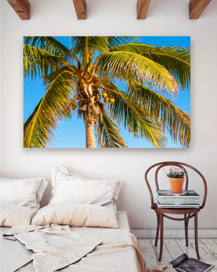 Ocean Palm Trees Large Canvas - 40x30, 40x40, 60x40 (Custom sizes available)