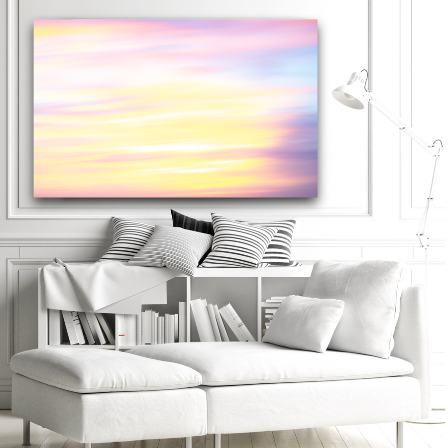 60x40 Large Canvas of a Brilliant Sunrise Abstract