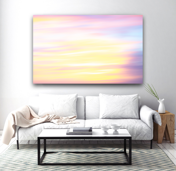 Brilliant Sunrise Abstract Large Canvas - 40x30, 40x40, 60x40 (Custom sizes available)