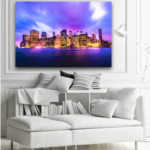 New York City Skyline Large Canvas - 40x30, 40x40, 60x40 (Custom sizes available) - Mary's Mark Photography