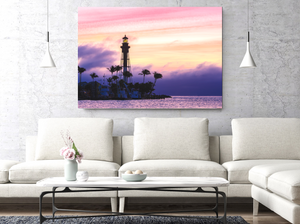 Lighthouse During Sunrise Large Canvas - 40x30, 40x40, 60x40 (Custom sizes available) - Mary's Mark Photography