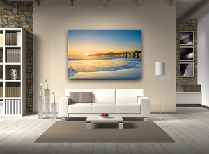 Ocean Pier During Sunset Large Canvas - 40x30, 40x40, 60x40 (Custom sizes available)
