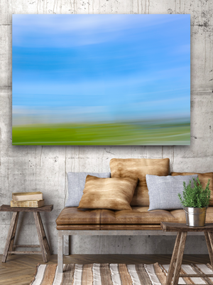 Large landscape canvas blue green by marys mark photography
