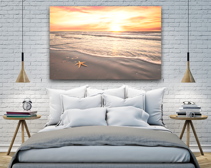 Starfish Beside the Ocean Large Canvas - 40x30, 40x40, 60x40 (Custom sizes available) - Mary's Mark Photography