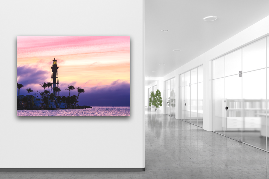 Lighthouse During Sunrise Large Canvas - 40x30, 40x40, 60x40 (Custom sizes available)