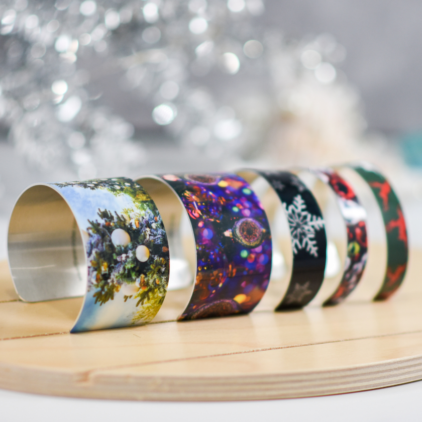 Holiday Cuff Bracelets on a riser | Wear the Wonder