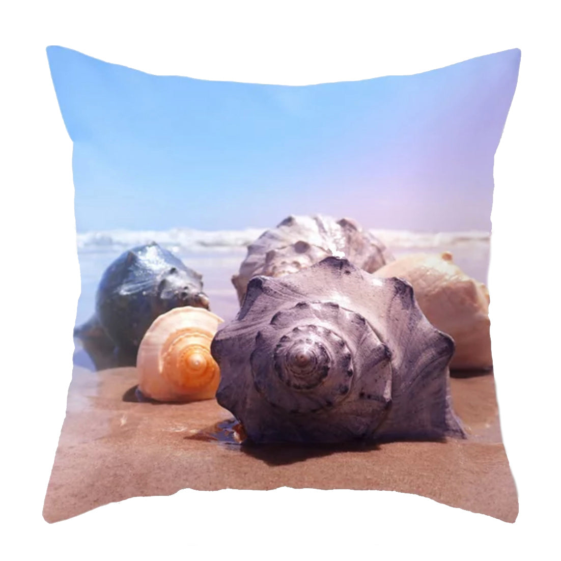 Conch Shells Throw Pillow