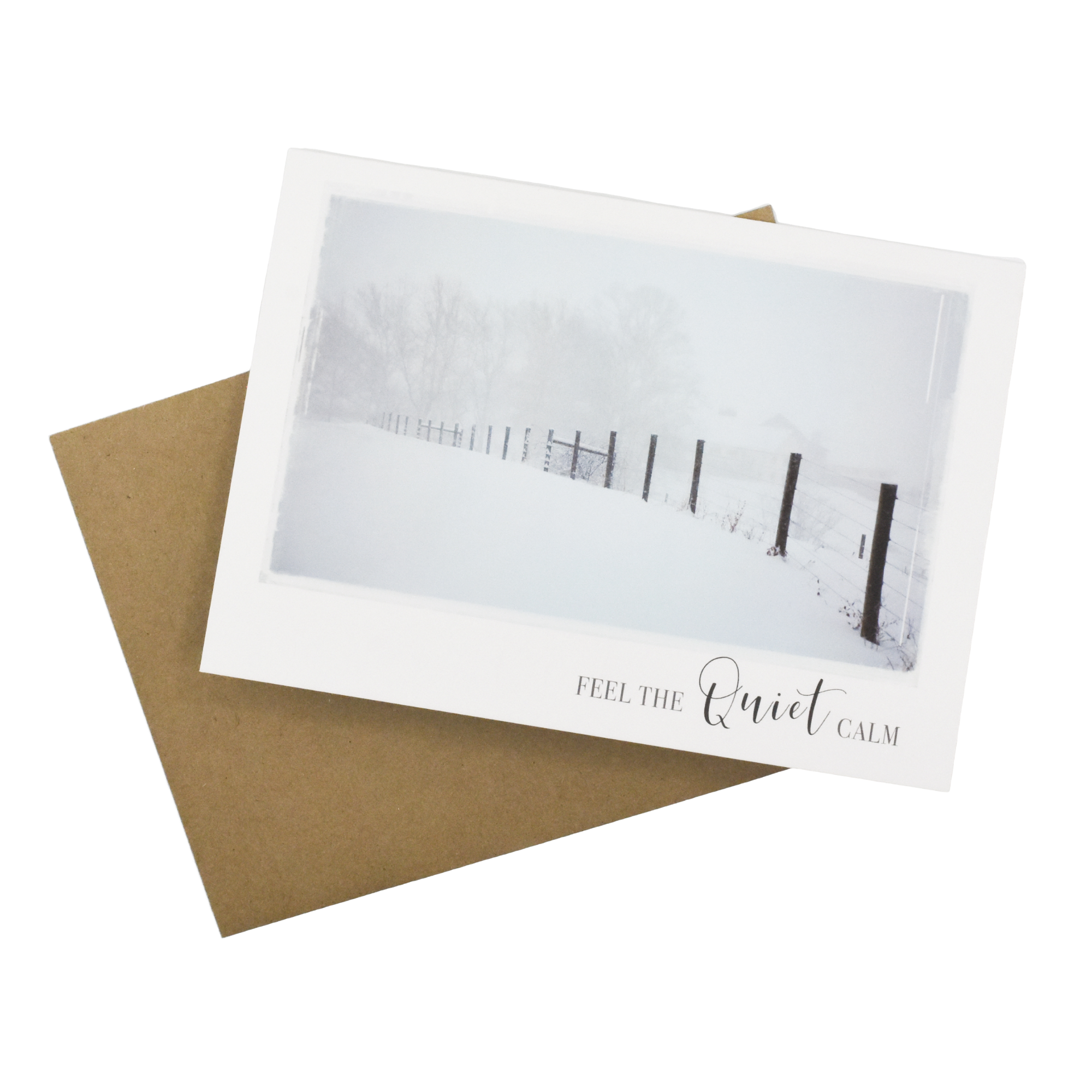 Feel the Quiet Calm Greeting Card - Wear the Wonder
