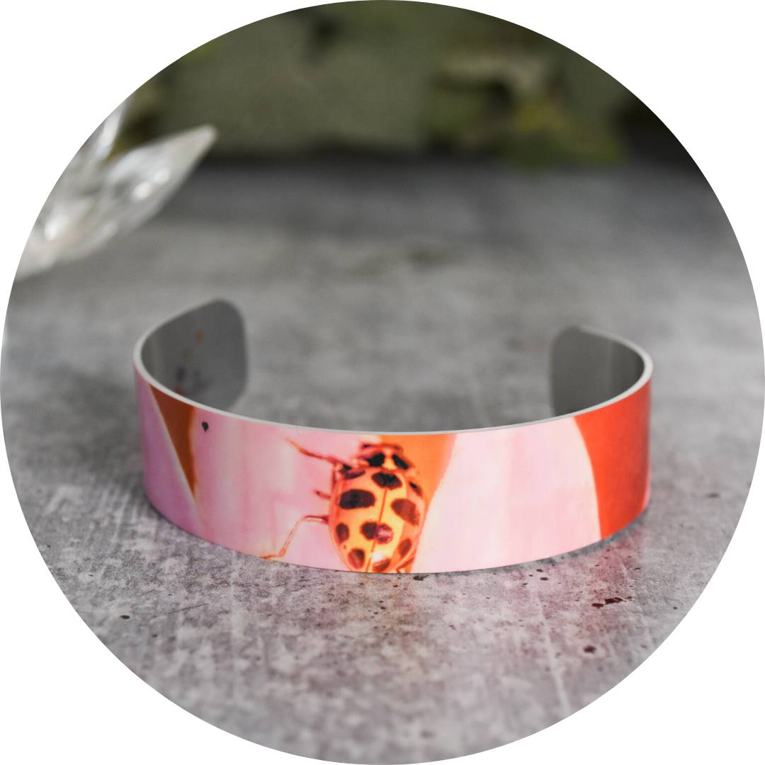 Standard view of Ladybug Cuff Bracelet | Wear the Wonder
