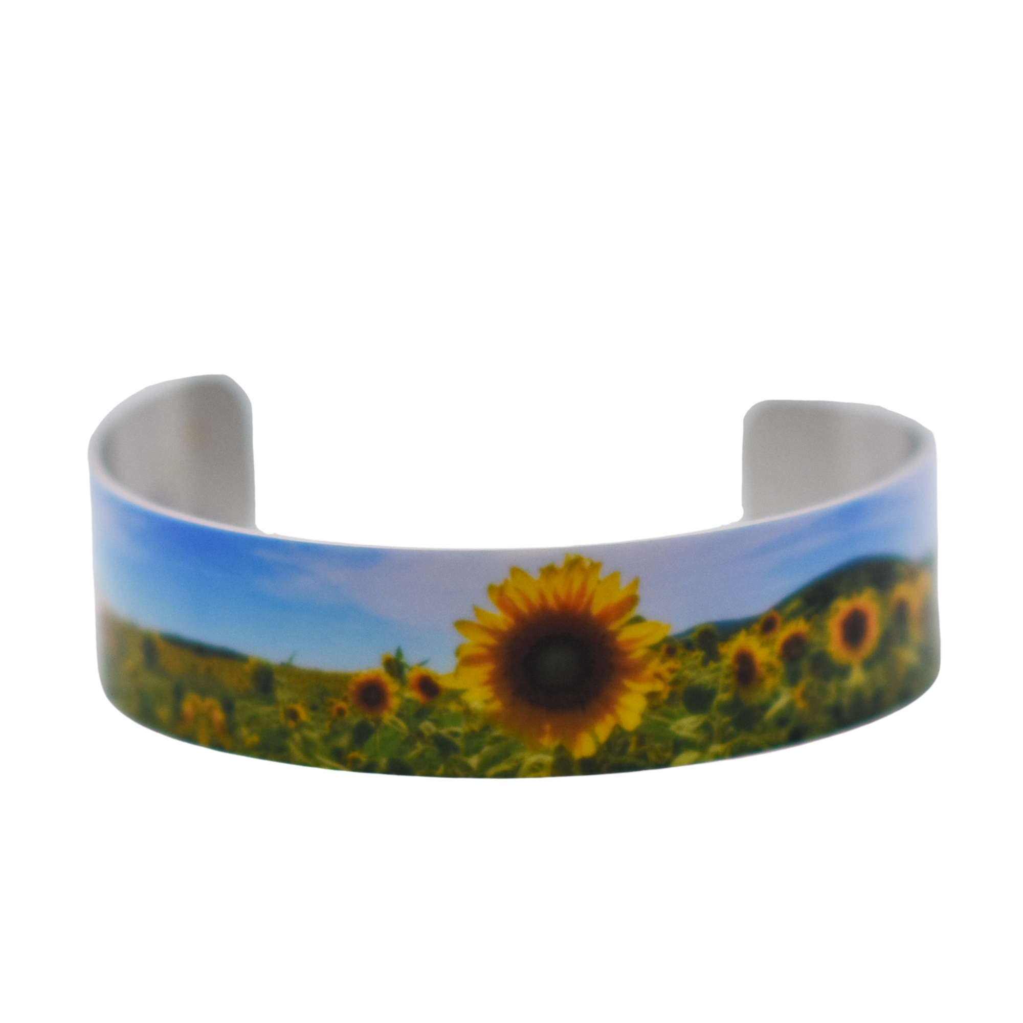 Standard view of One in a Million Sunflower Narrow Cuff Bracelet | Wear the Wonder