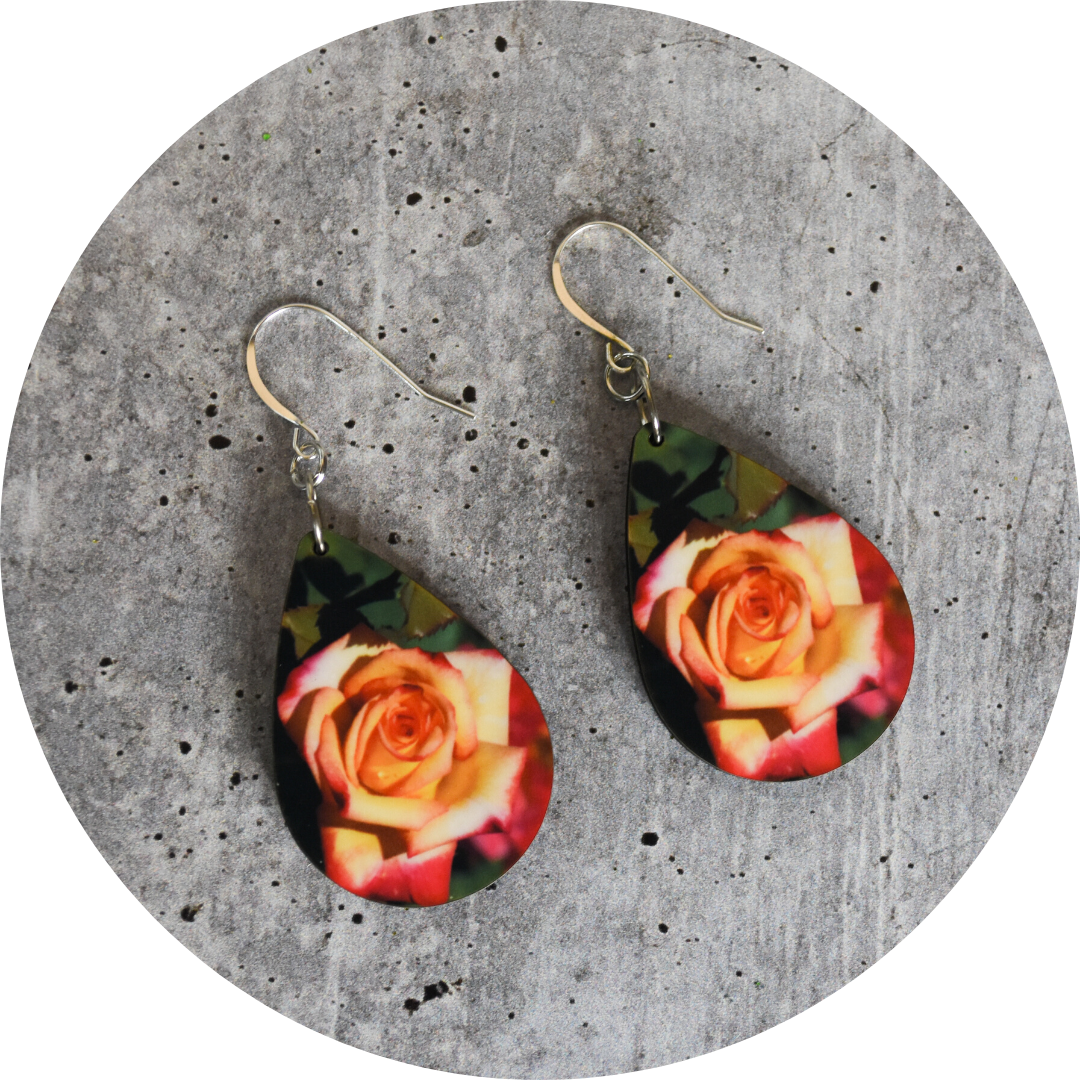 Summer Rose Teardrop Earring - Wear the Wonder