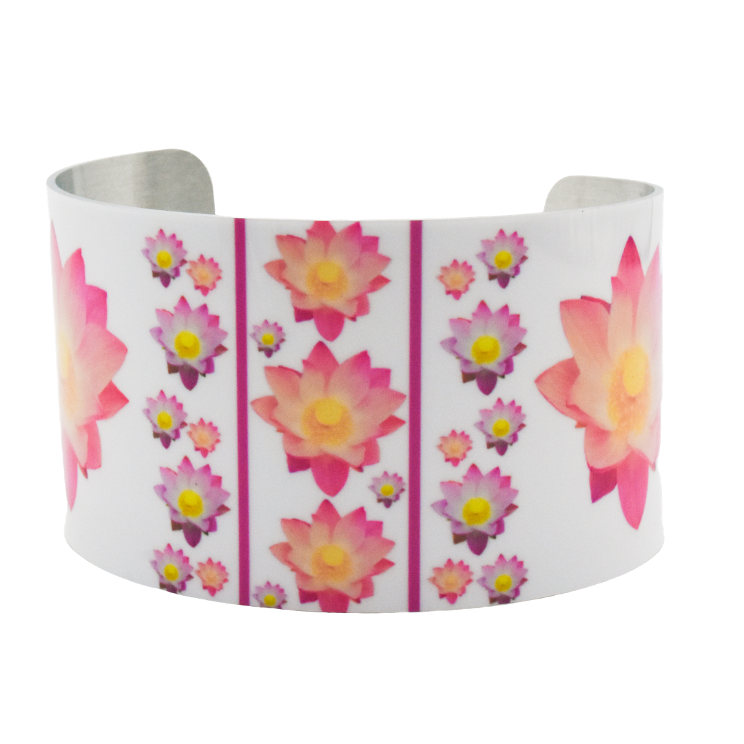 Pure Heart Lotus Wide Cuff Bracelet | Wear the Wonder