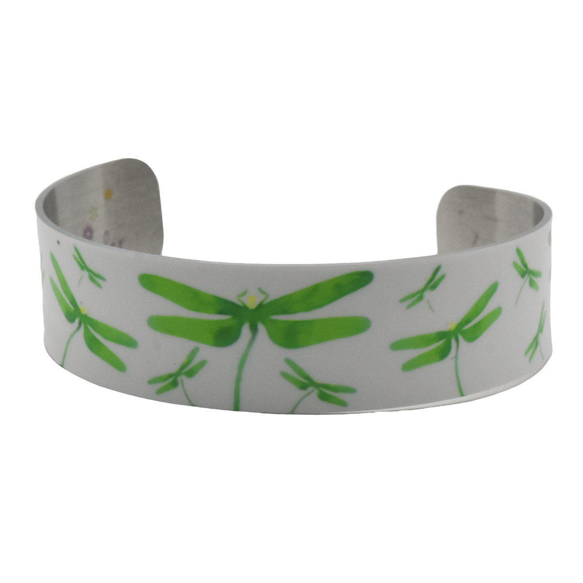 Emerald Dragonfly Narrow Cuff Bracelet - Wear the Wonder