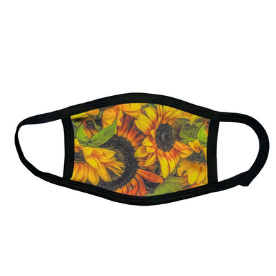 Full view of Thousand Suns Sunflower Mask | Wear the Wonder