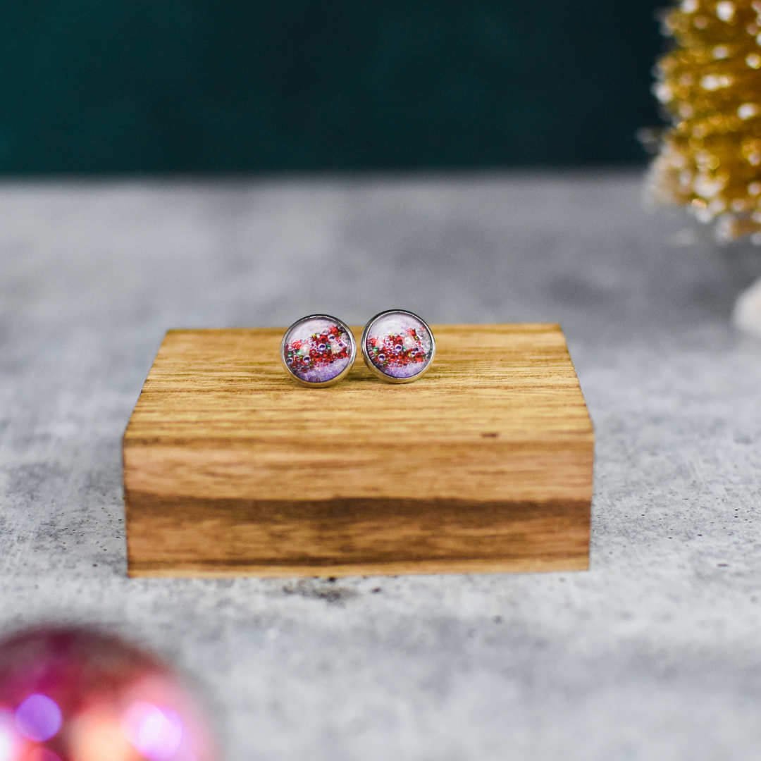 Front View of Christmas Sparkle Stud Earrings | Wear the Wonderr