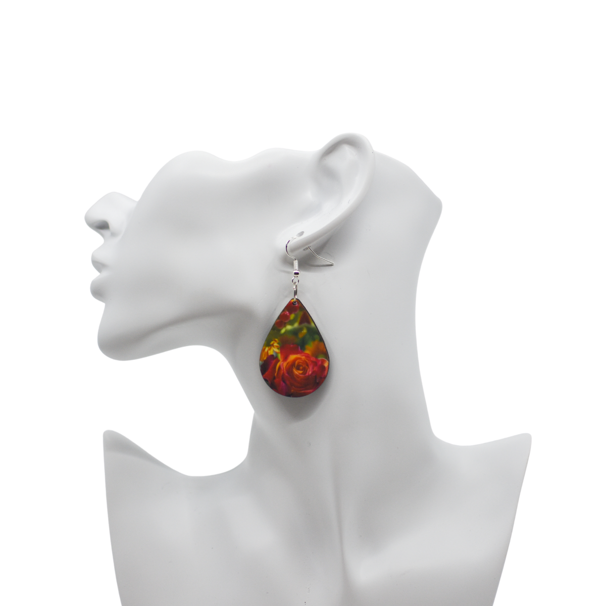 Autumn Rose Teardrop Earrings