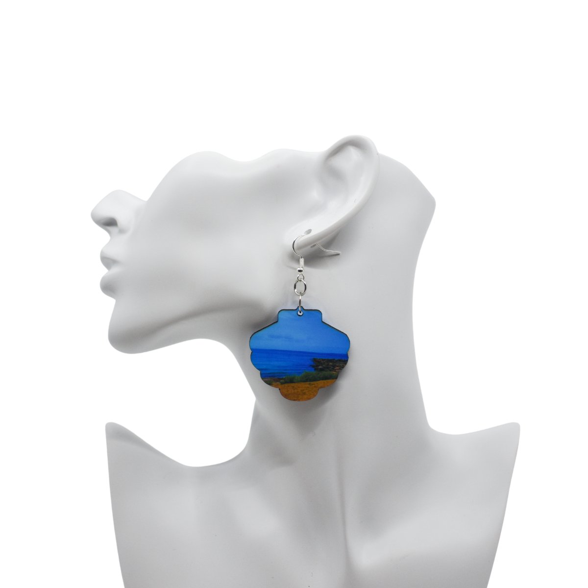 Peaceful Beach Earring Seashell on Model | Wear the Wonder