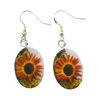 Autumn Sunflower Earrings | Wear the Wonder