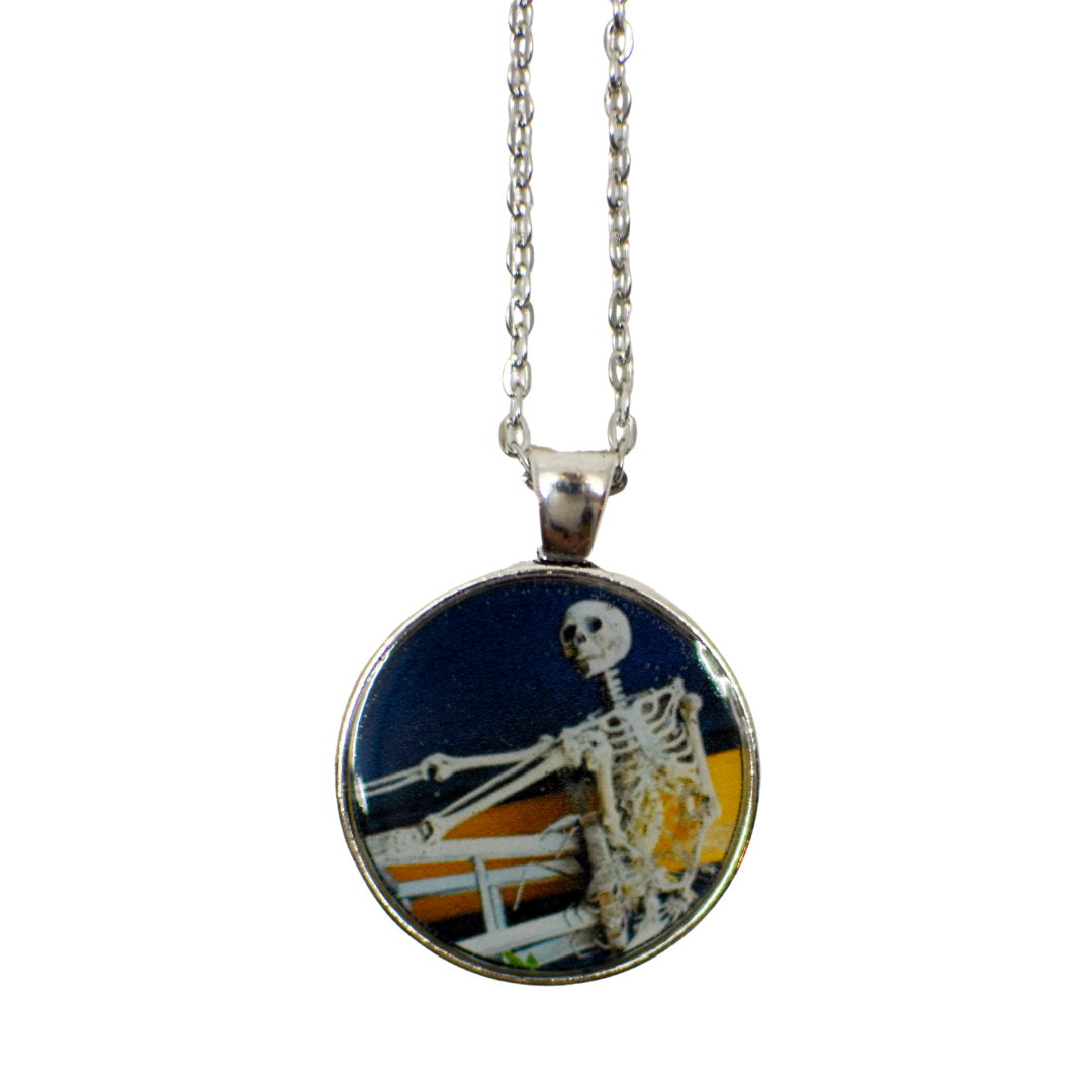 Skeleton Resin Pendant Necklace