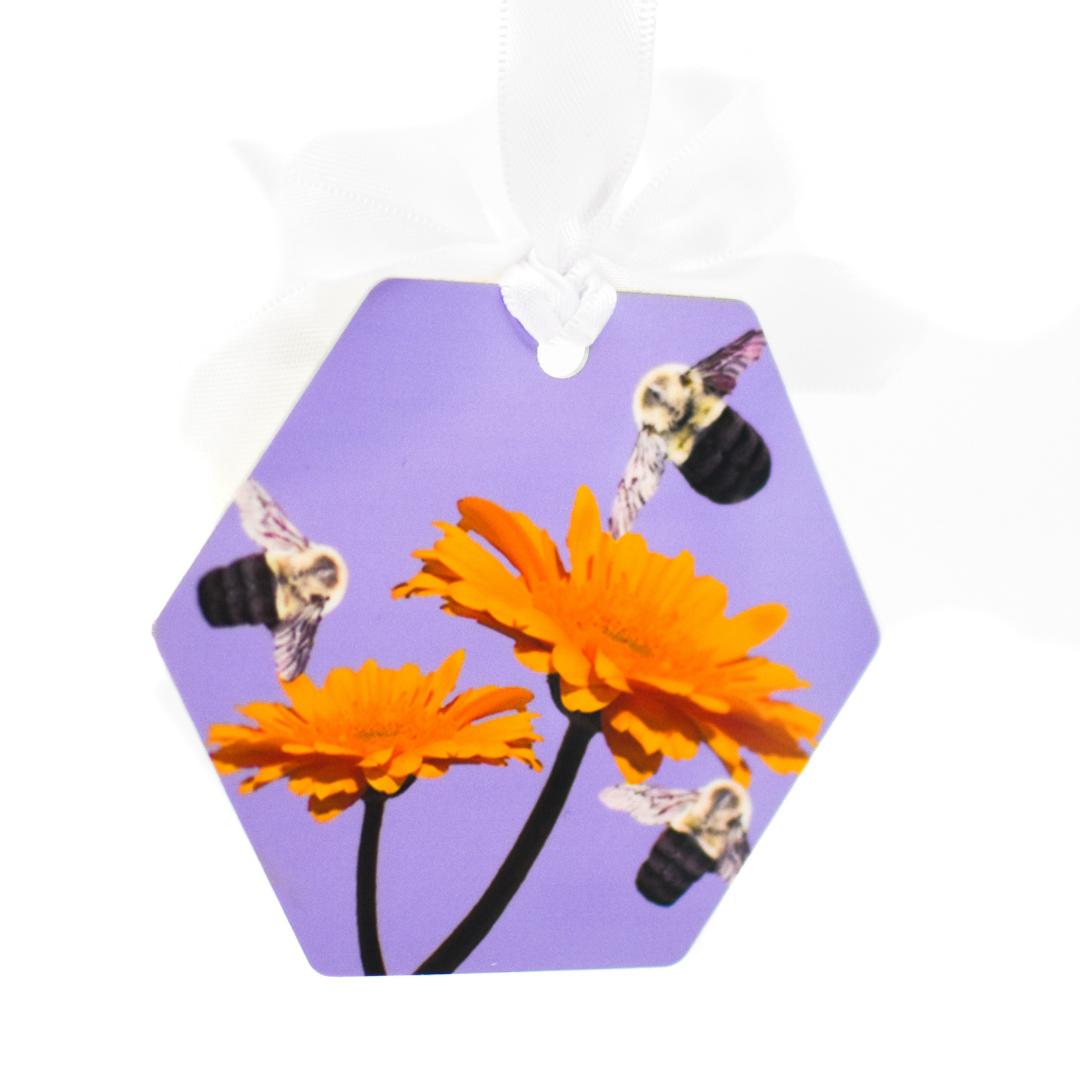 Back of Busy Bee Aluminum Ornament | Wear the Wonder