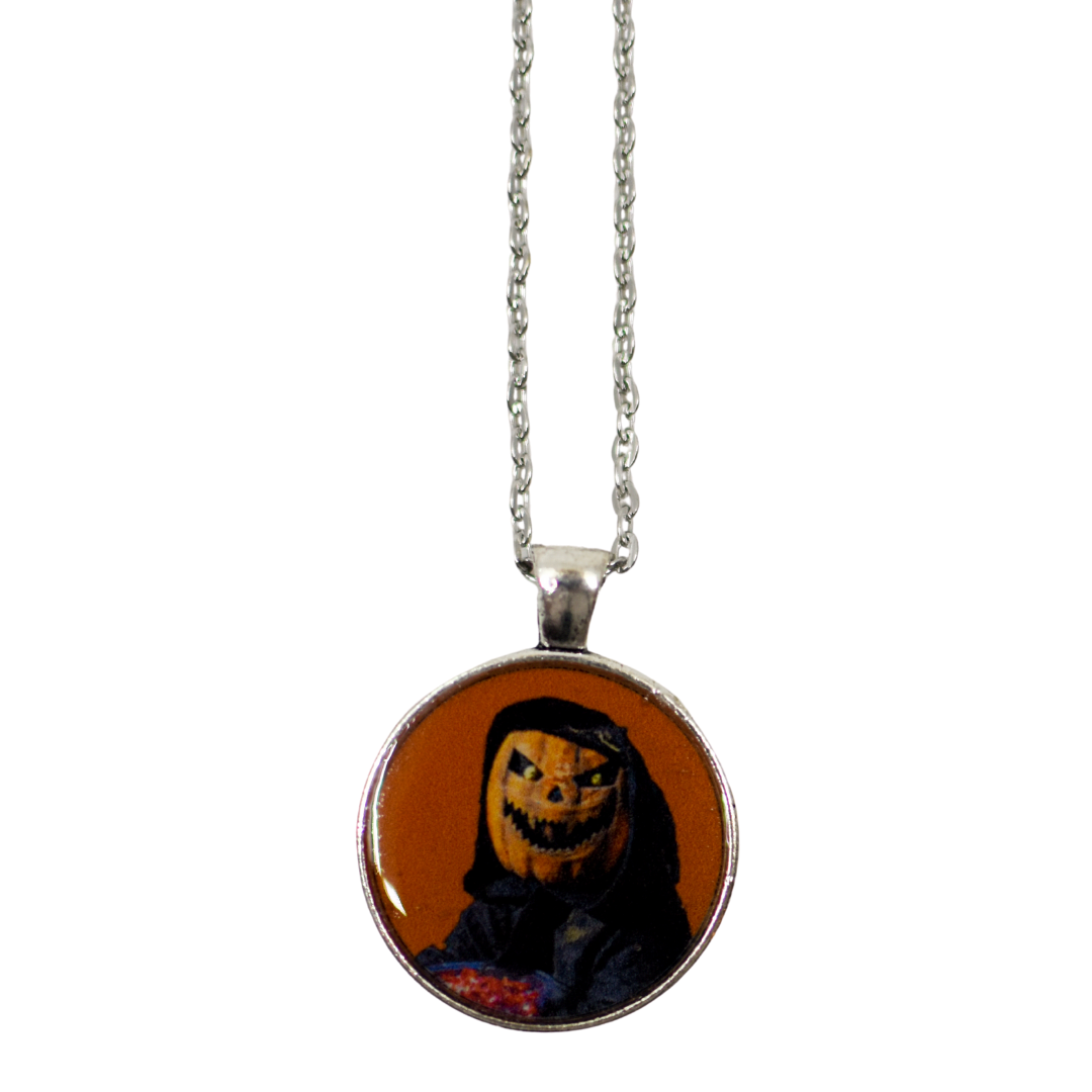 Pumpkin Head Resin Pendant Necklace